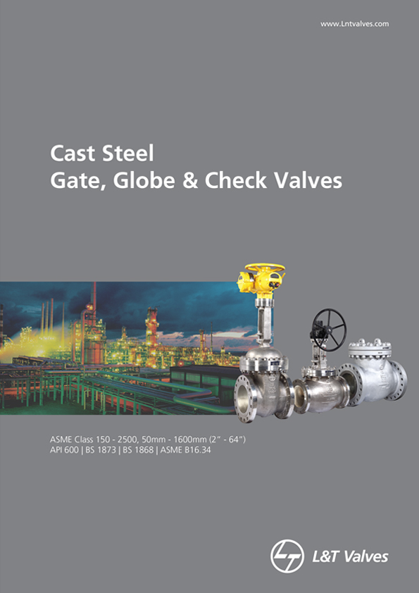 L&T Valves Gate, Globe & Check Valves - API 600