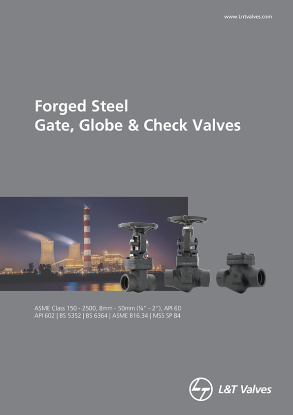 L&T Valves Gate, Globe & Check Valves - API 602