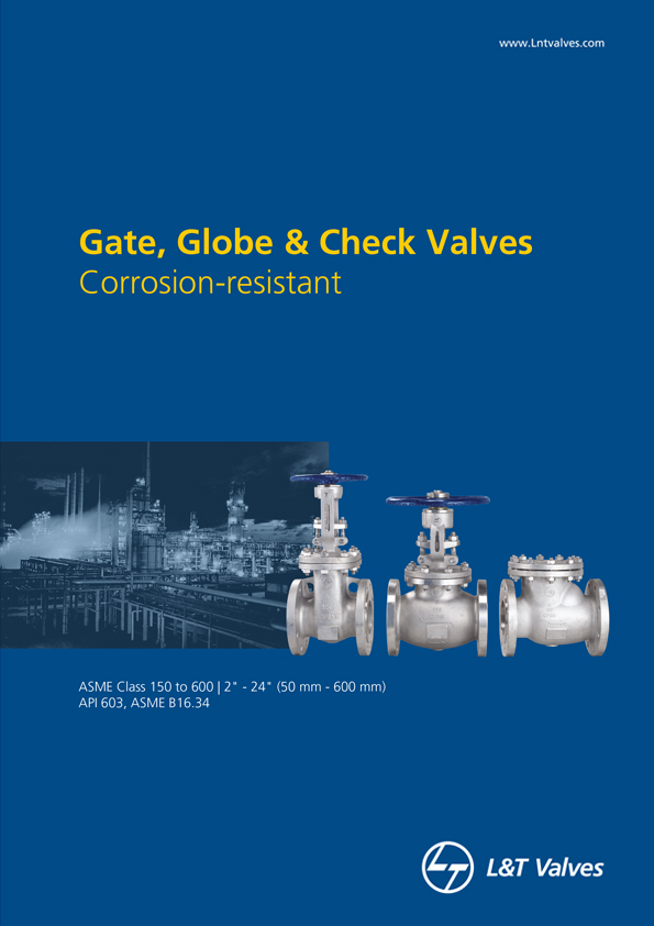 L&T Valves Gate, Globe & Check Valves - API 603