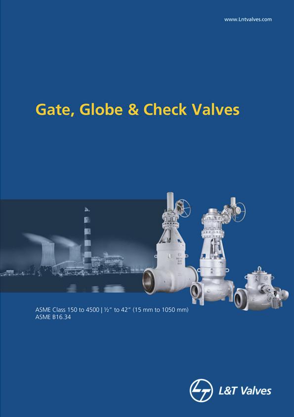 L&T Valves Gate, Globe & Check Valves - ASME B16.34