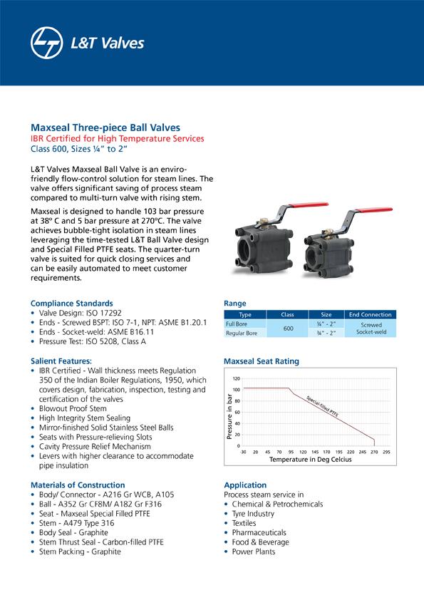L&T Valves Maxseal