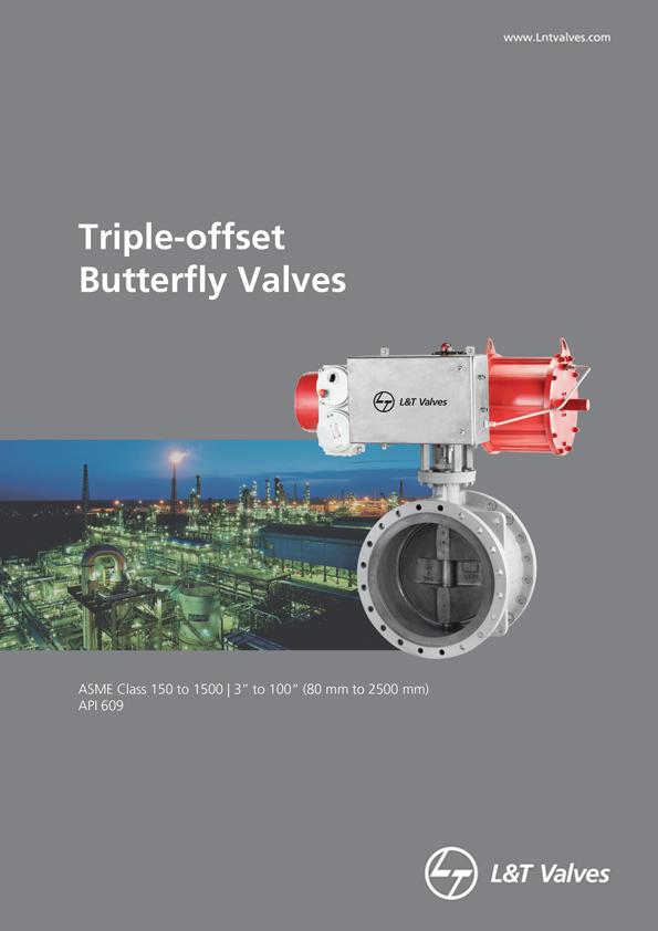 L&T Valves Triple-offset Butterfly Valves