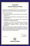 Corporate Human Resource (HR) Policy