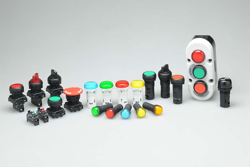 LED Indicators, Push Button Actuators & Stations