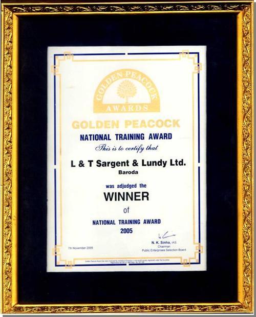 Golden Peacock Award_2005
