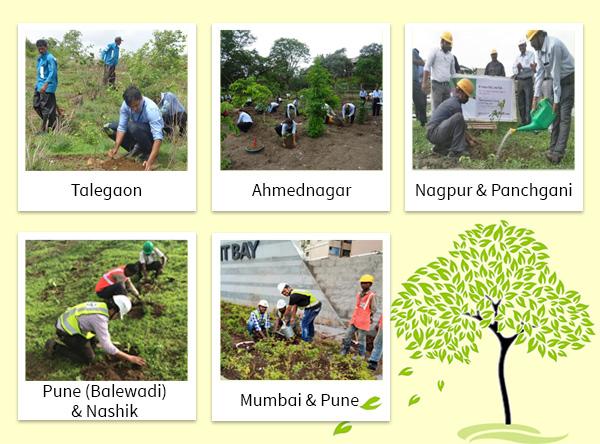 Plantation of Saplings at Talegaon, Ahmednagar, Nagpur, Panchgani, Pune(Balewadi), Nashik, Mumbai & Pune