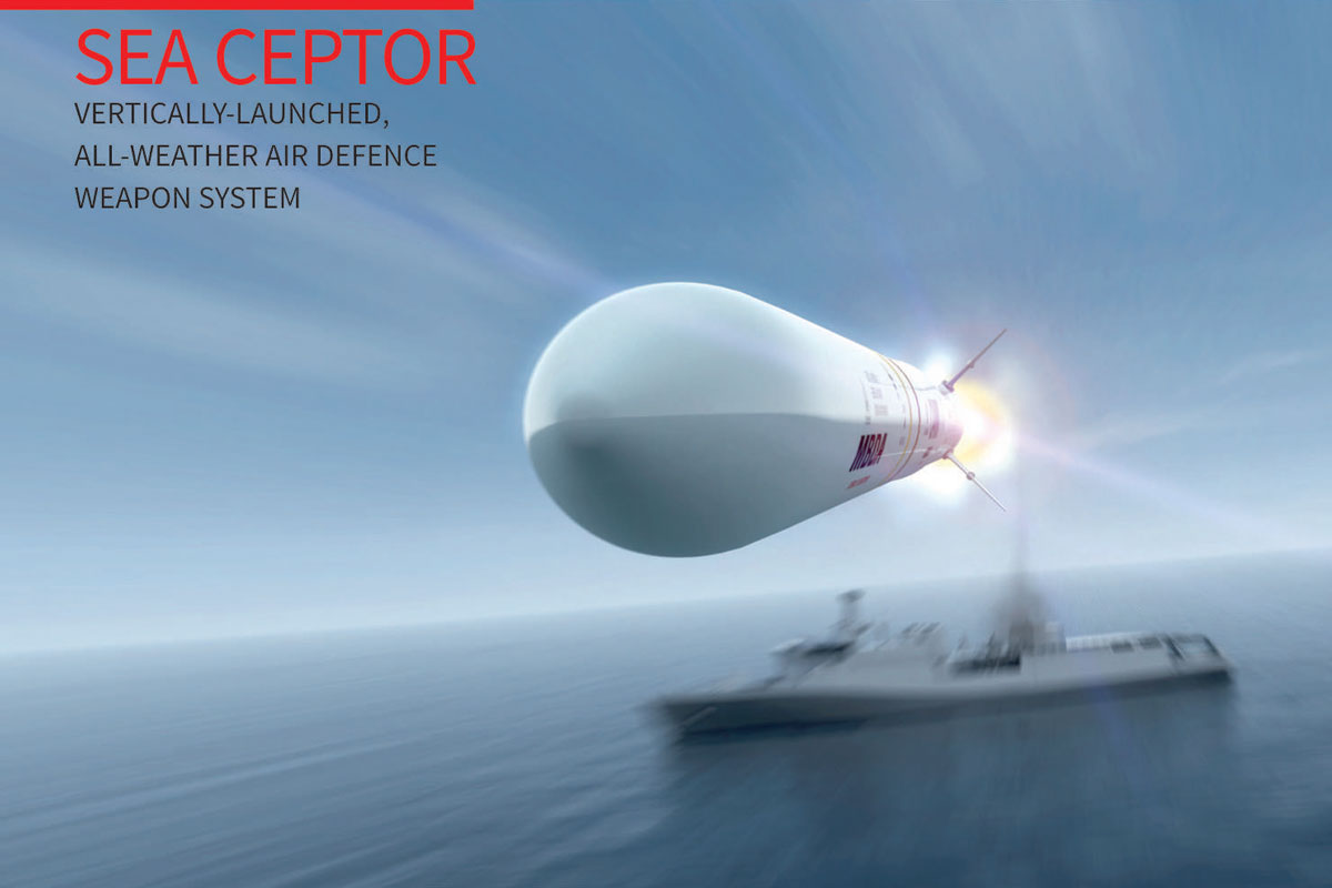 SEA CEPTOR Vertically Launched, All-Weather Air Defence Weapon System