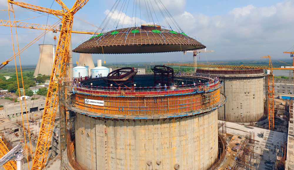 Dome erection at the Kakrapar Atomic Power project, Gujarat.jpg