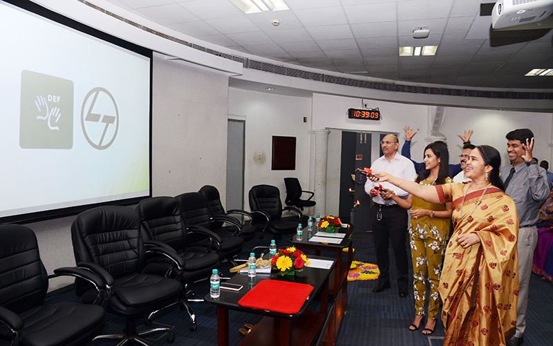Launch of the DEF-ISL app at the L&T office, Chennai - 1
