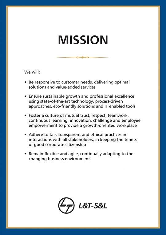 Mission Statement - L&T-S&L