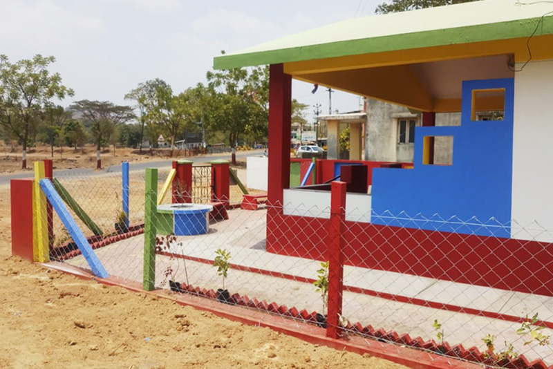 Rebuilt anganwadi at Village Chondha