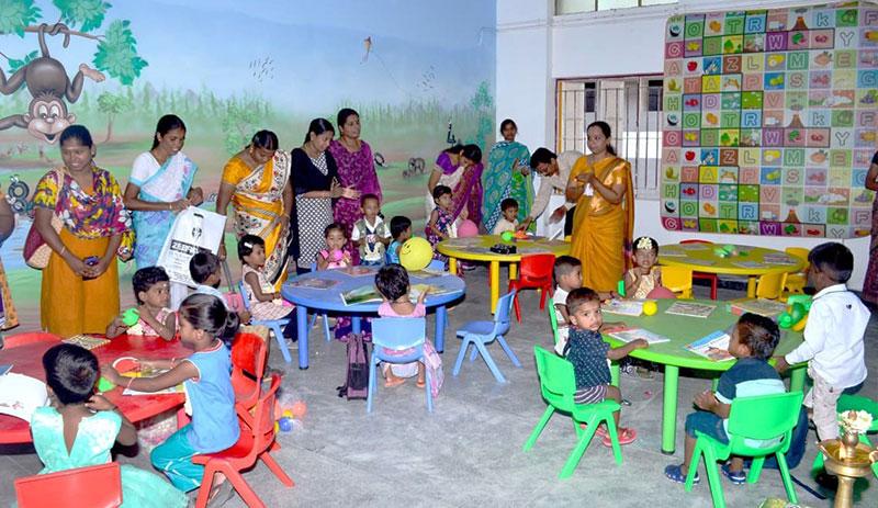 Renovated (Art & Painting work) LKG Section at Govt.Higher Secondary School, Asokapuram