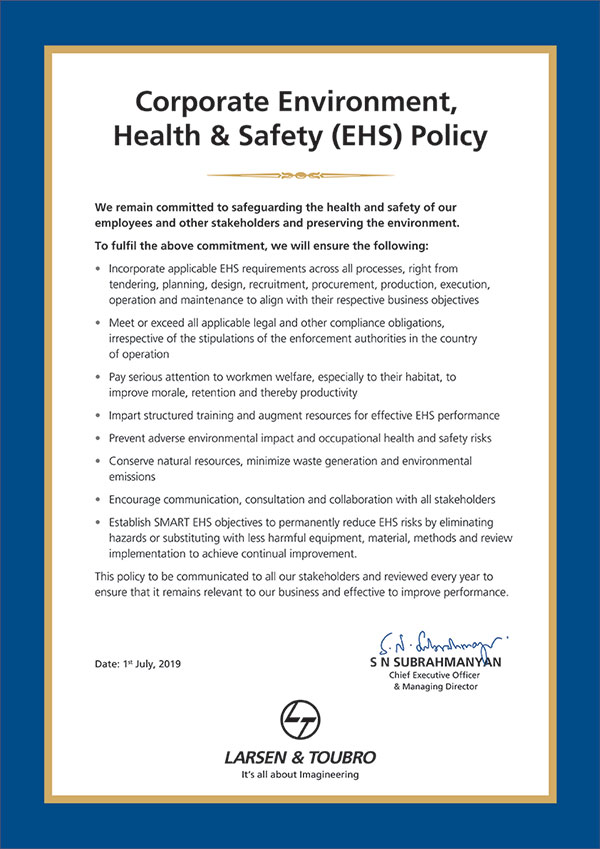 EHS Policy