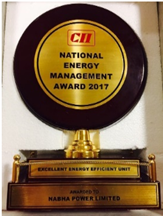 CII-Excellent Energy Management Award 2017 in Thermal Power Plant Category
