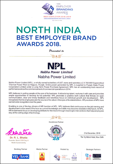 North India Best Employer Brand Award