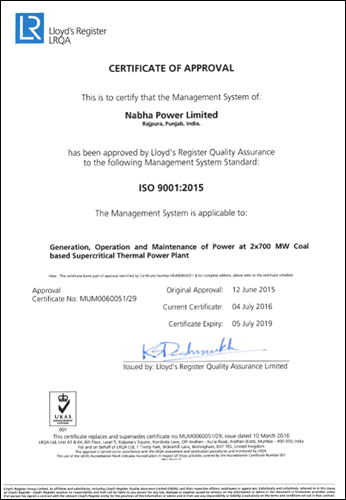 Quality Management System Certification ISO 9001:2015
