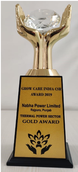 Grow Care India CSR Award 2019