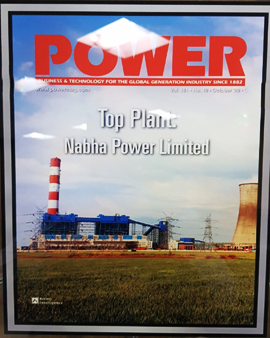 Best operational plant in coal based category by Power Magazine, North America