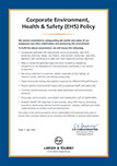 Corporate Environment Health & Safety (EHS) Policy