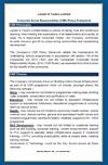 Corporate Social Responsibility (CSR) Policy Framework