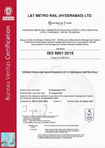 ISO 9001:2015 LTMRHL